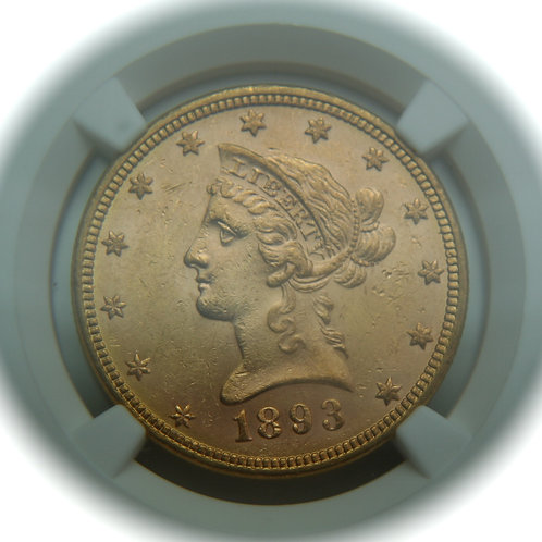 1893 $10.00 Gold Eagle NGC MS61