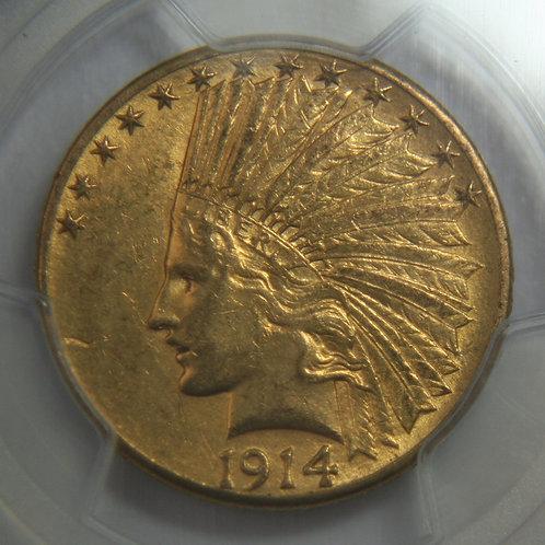 1914-D Indian Gold Eagle PCGS AU58