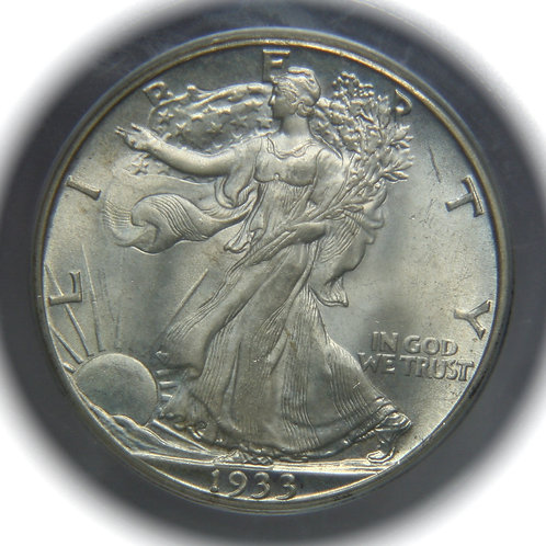 1933-S Liberty Walking Silver Half Dollar PCGS MS65