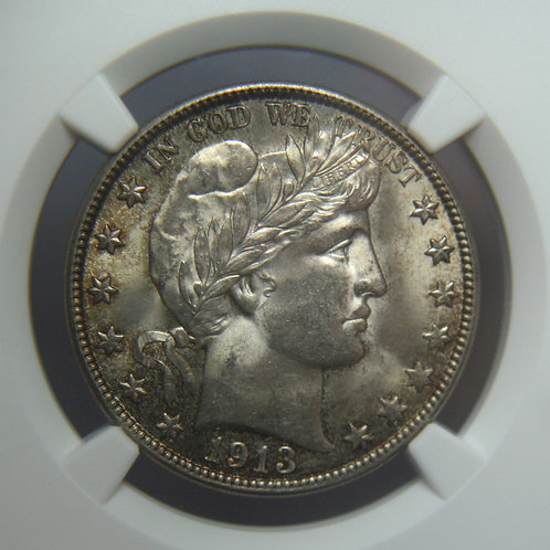 1913-D Barber Head Half Dollar NGC MS64