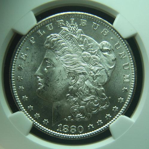 1880-S Morgan Silver Dollar NGC MS64