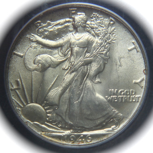 1946 Liberty Walking Silver Half Dollar PCGS MS64