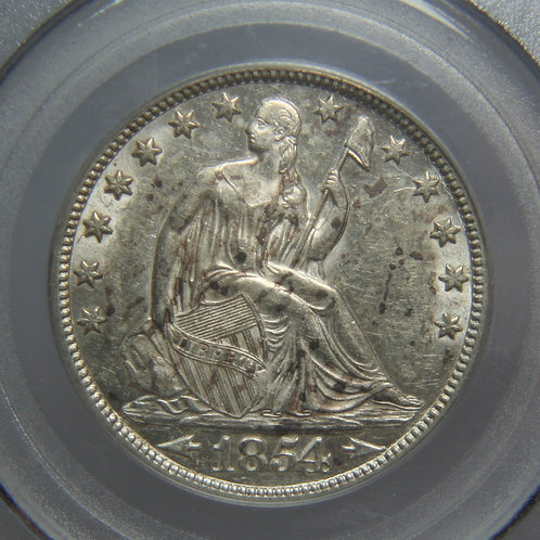 1854-O Liberty Seated Half Dollar PCGS AU53
