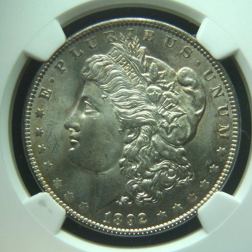 1892 Morgan Silver Dollar NGC MS64