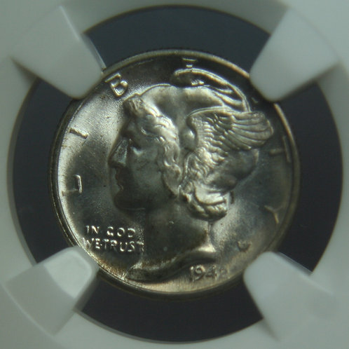 1942-D Mercury Dime NGC MS66 FB