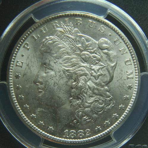 1882-CC Morgan Silver Dollar PCGS MS62