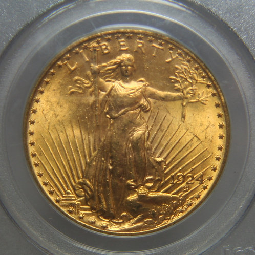 1924 $20 Double Eagle PCGS MS64 Green Label
