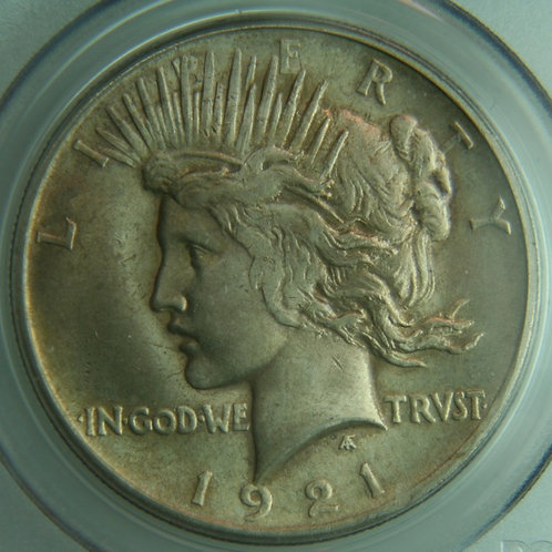 1921 Peace High Relief Silver Dollar PCGS MS64