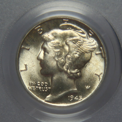 1945-D Mercury Dime PCGS MS66FB