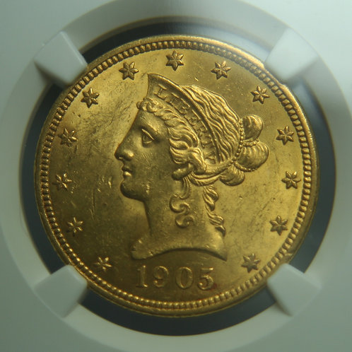 1905 $10.00 Gold Eagle NGC MS61