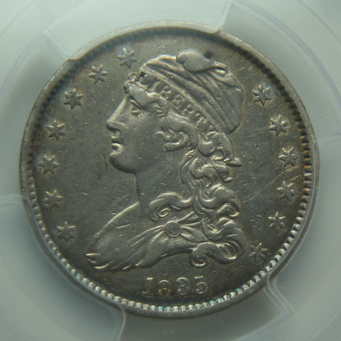 1835 Capped Bust Silver Quarter PCGS XF45