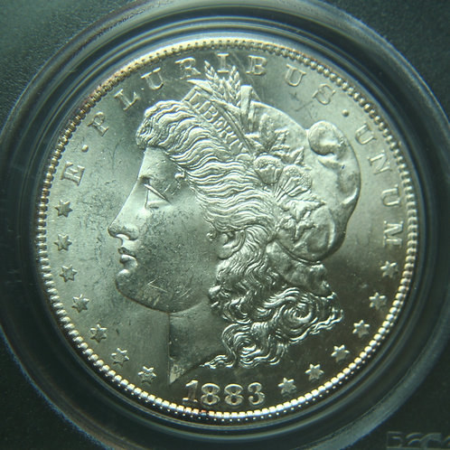 1883-S Morgan Silver Dollar PCGS MS63 & CAC
