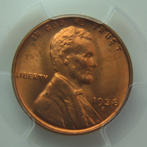 1938-S Lincoln One Cent PCGS MS65 Red