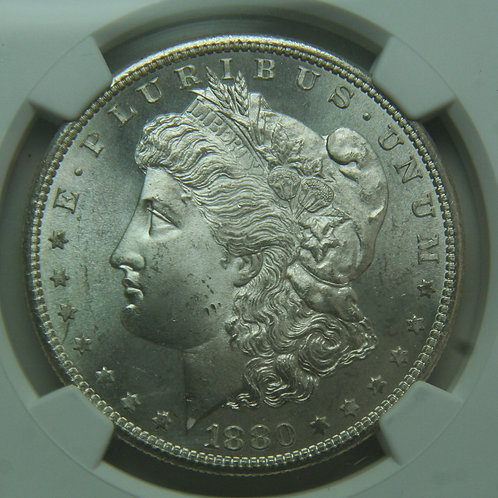 1880-S Morgan Silver Dollar NGC MS65+