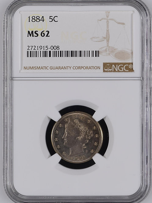 1884 Liberty Head Nickel NGC MS62