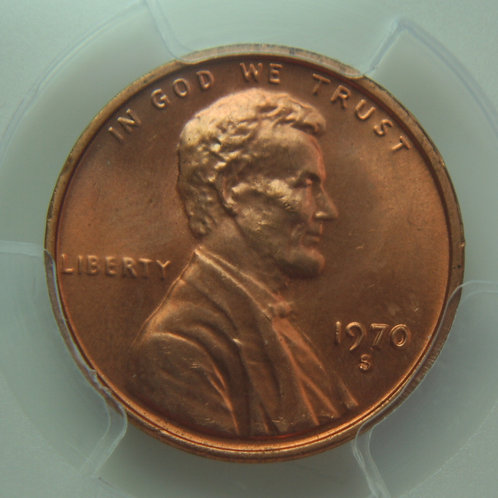 1970S Small Date Lincoln One Cent PCGS MS65 Red