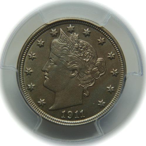 1911 Liberty Head Nickel PCGS MS62