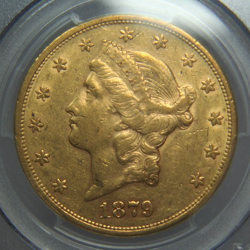 1879-S $20 Double Gold Eagle PCGS XF45
