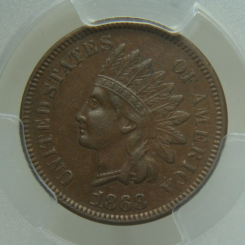 1868 Indian Head One Cent PCGS XF45