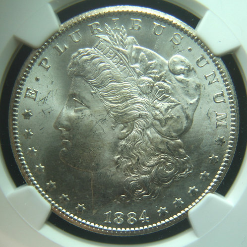 1884-CC Morgan Silver Dollar NGC MS65