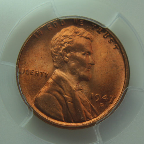 1947-D Lincoln One Cent PCGS MS65 Red