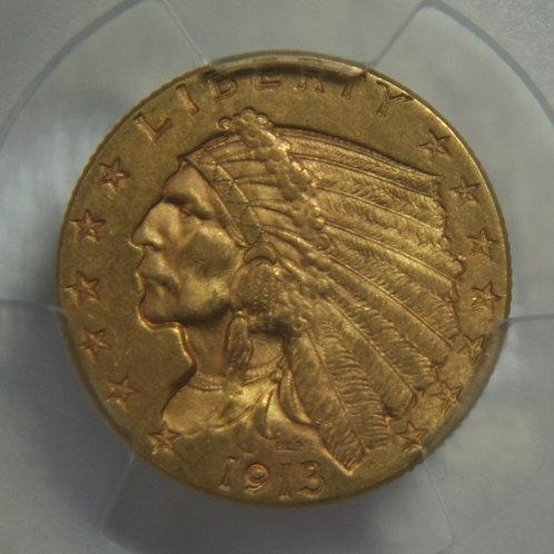 1913 $2.50 Quarter Gold Eagle PCGS MS62