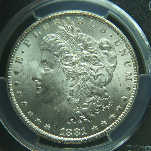 1881-CC Morgan Silver Dollar PCGS MS62