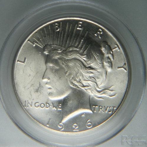 1926-S Peace Silver Dollar PCGS MS63+