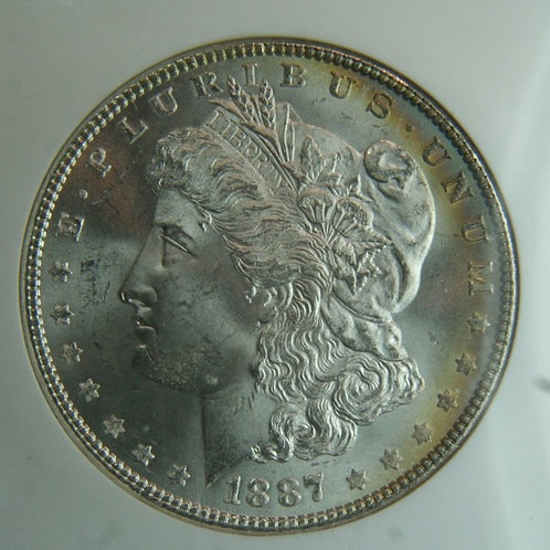 1887 Morgan Silver Dollar NGC MS64