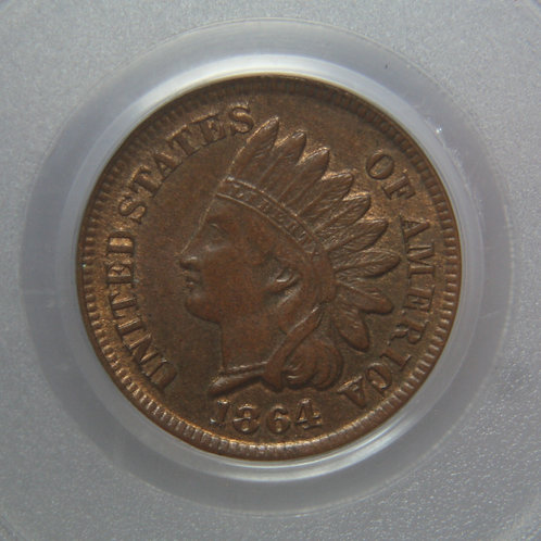 1864 Indian Head One Cent Bronze PCGS MS63BN