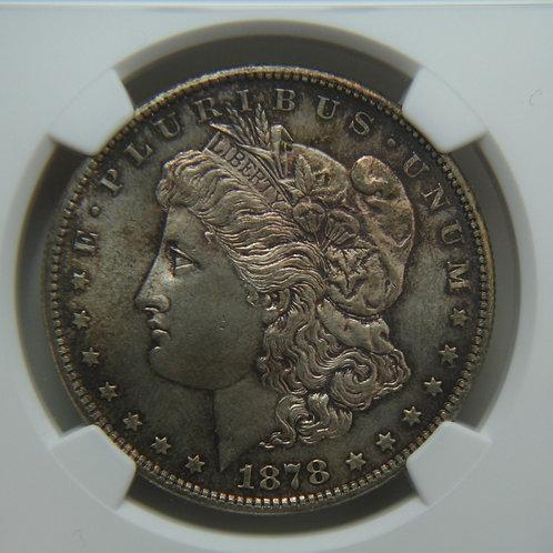 1878-S Morgan Silver Dollar NGC MS64 - Great Color!