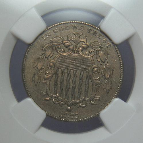 1875 Shield Nickel NGC AU50