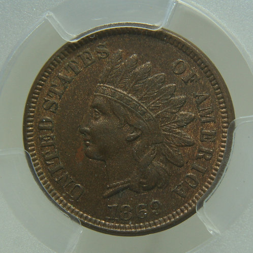 1869 Indian Head One Cent PCGS AU55