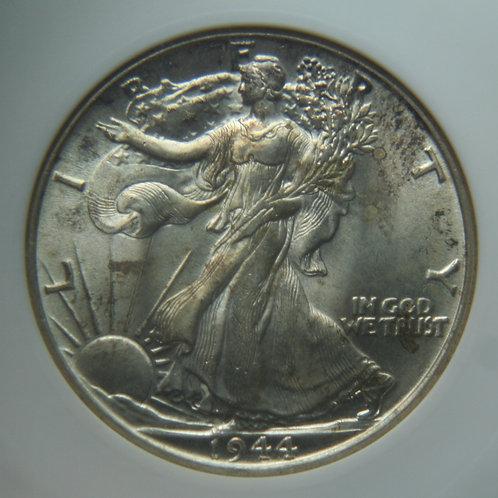 1944 Liberty Walkng Silver Half Dollar ANACS MS64