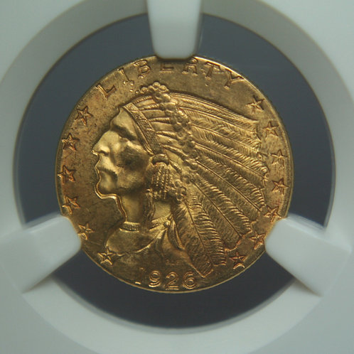1926 $2.50 Quarter Gold Eagle NGC MS64