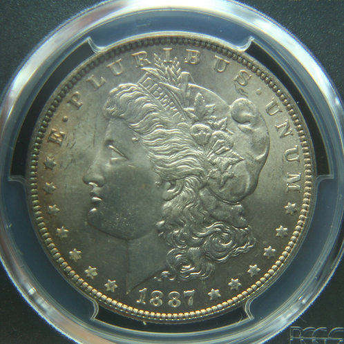 1887 Morgan Silver Dollar PCGS MS65