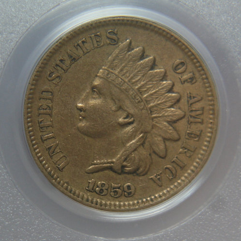 1859 Indian Head One Cent PCGS AU50
