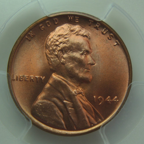 1944 Lincoln One Cent PCGS MS66 Red