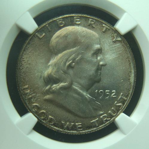1952 Franklin Half Dollar NGC MS65+ FBL