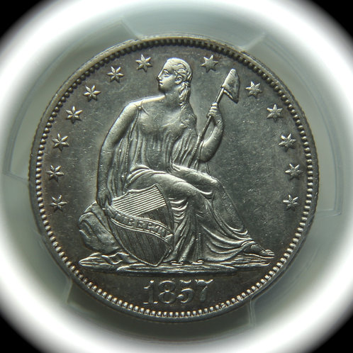 1857 Liberty Seated Half Dollar PCGS AU55