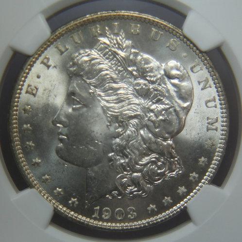 1903-O Morgan Silver Dollar NGC MS62