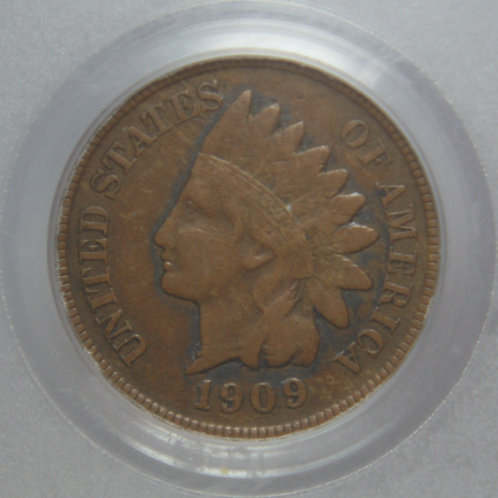 1909-S Indian Head One Cent PCGS VF25 Secure Plus