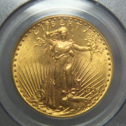 1924 $20 Double Gold Eagle PCGS MS63