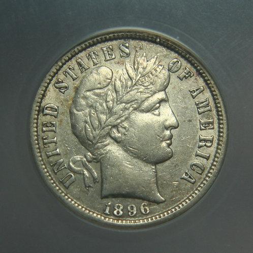 1896-S Barber Head Silver Dime ANACS EF45