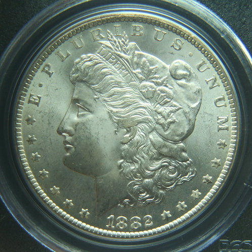 1882-CC Morgan Silver Dollar PCGS MS65 & CAC