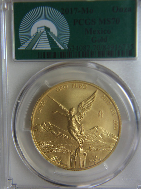 2017 Mexico 1 oz. Gold Libertad PCGS MS70