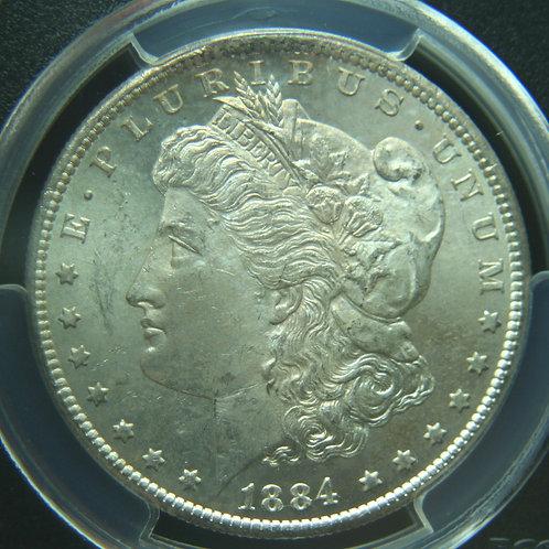 1884-CC Morgan Silver Dollar PCGS MS63