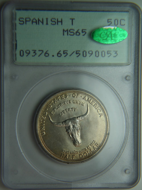 1935 Spanish Trail Half Dollar PCGS & CAC MS65