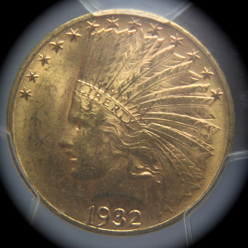 1932 $10.00 Indian Head Gold Eagle PCGS MS63