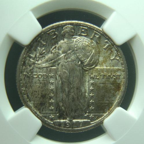 1917 Standing Liberty Quarter Type 2 NGC MS64FH